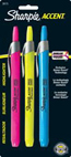 Sharpie Accent Retractable 3-Highlighter Set