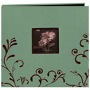 Embroidered Scroll Frame Fabric Scrapbook