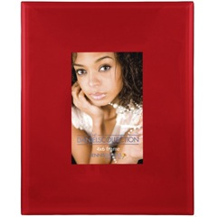 Red Art Glass Picture Frames