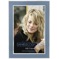 Dennis Daniels Silver with Blue Inlay Photo Frame