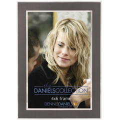 Dennis Daniels Silver with Charcoal Inlay Photo Frame